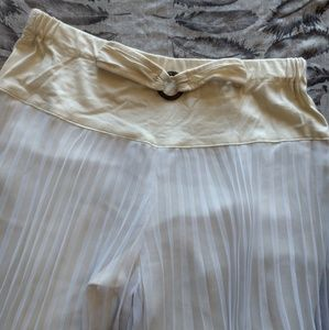 VINTAGE ONE OF A KIND Flowy Off-White Bottoms